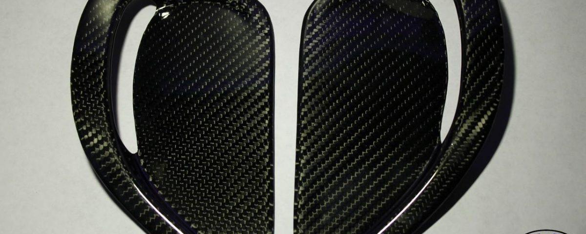 Carbon fiber inserts in hood for Toyota Celica ST185 Carlos Sainz