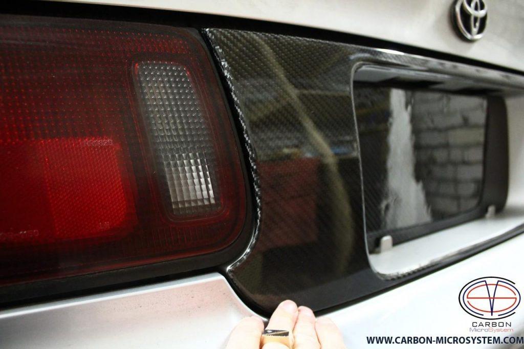 Carbon Fiber number panel surround for Toyota Celica st20