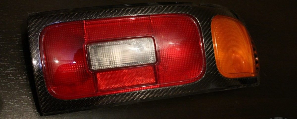 Toyota Celica st18 Carbon Fiber number plate and rear lights surround
