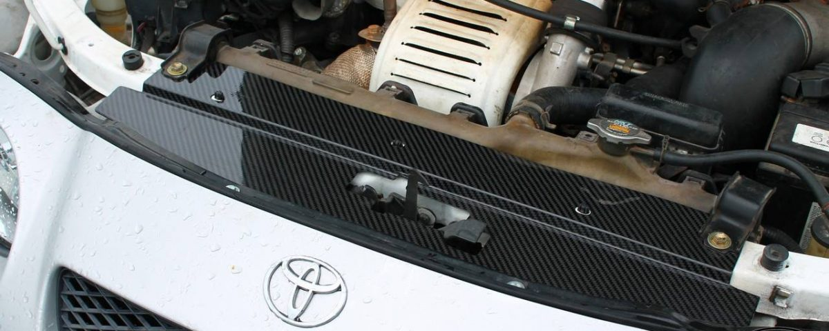 Radiator cooling panel from Carbon Fiber for TOYOTA Celica Gen6 ST202 - ST205 GT4