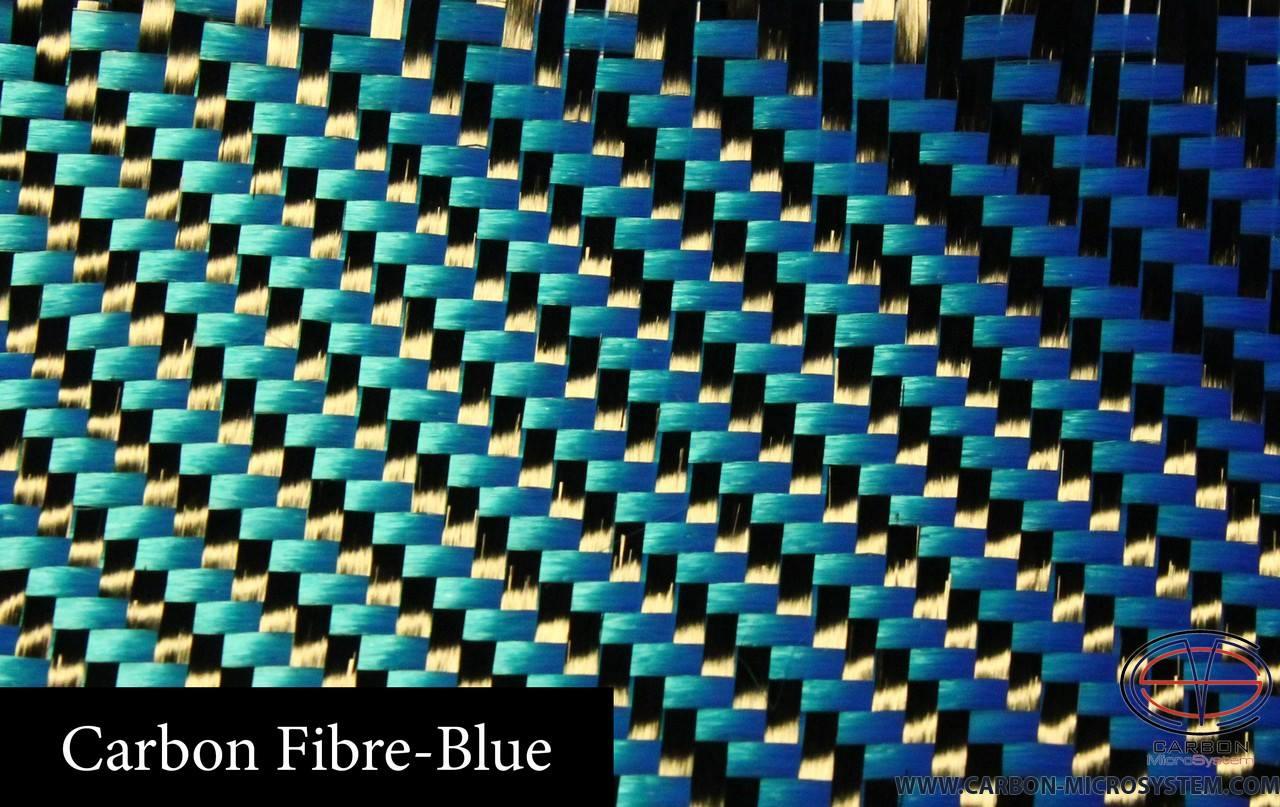 Blue carbon fiber.