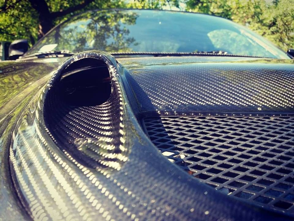 Carlos Sainz Bonnet hood scoop from Carbon fiber for Toyota Celica