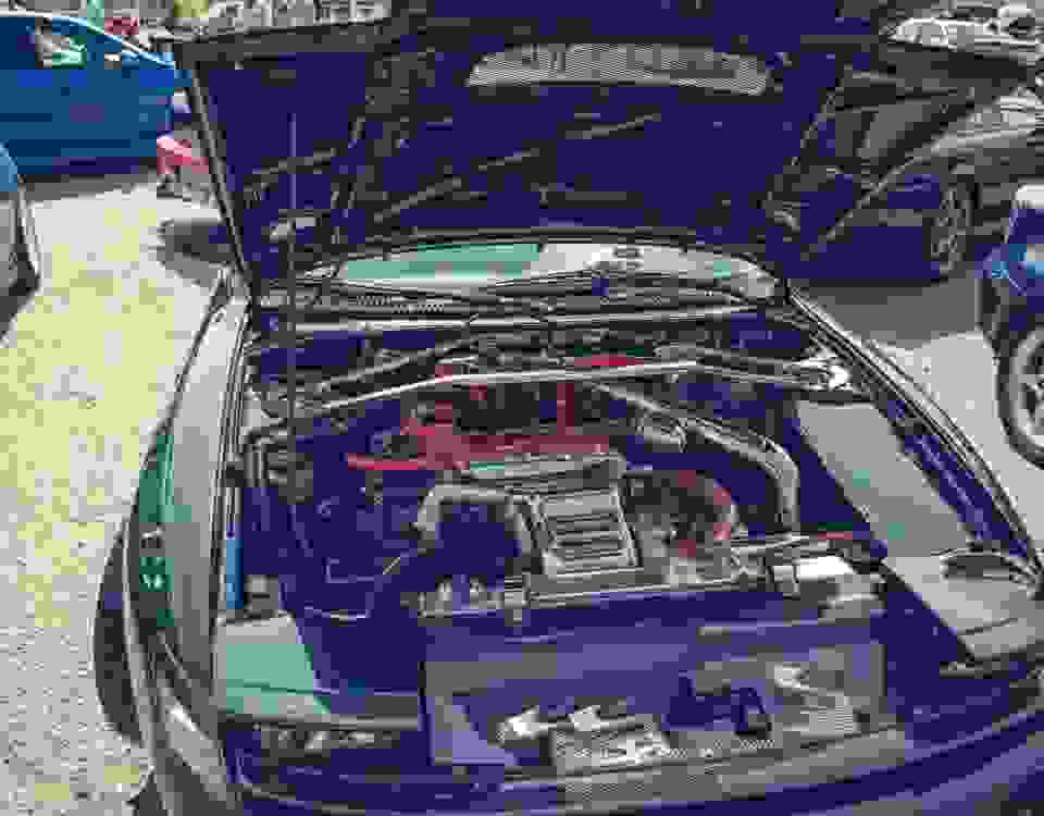 Toyota Celica engine bay