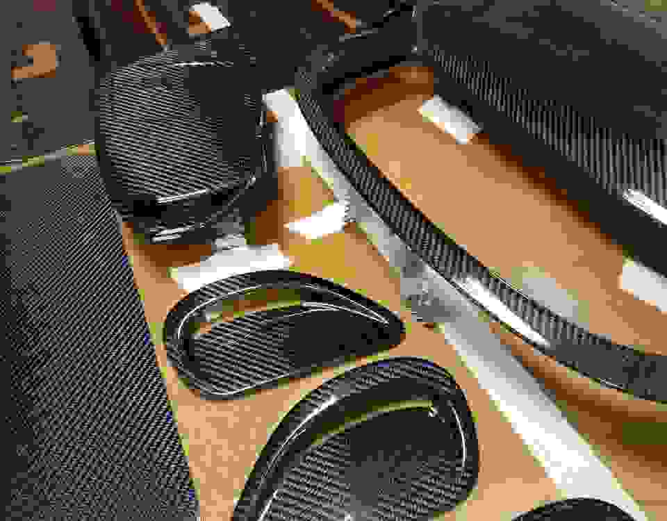 The working process carbon fiber