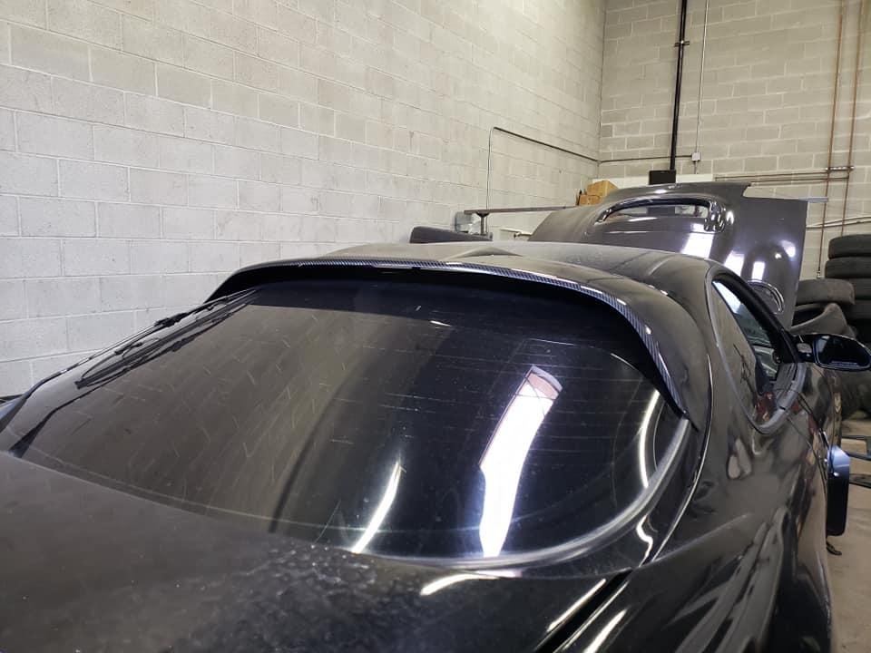 Carbon fiber spoiler