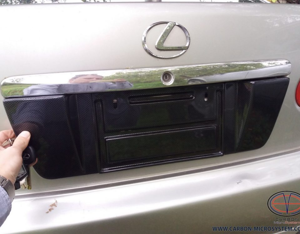 carbon fiber number plate surround