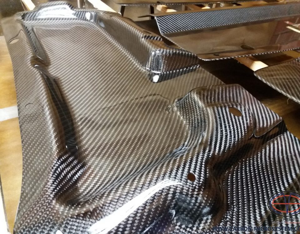 bonnet rain guard from carbon fiber