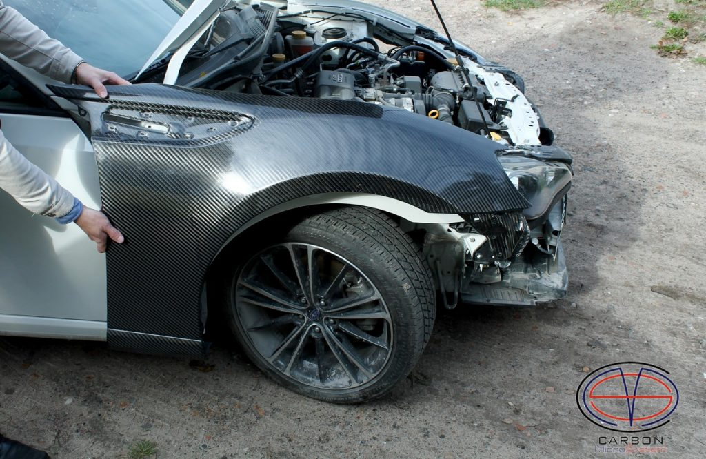 Toyota Gt86, Subaru BRZ, Scion FR-S front fender from carbon fiber.