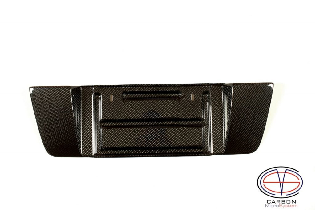 Carbon fiber short number plate surround for Lexus IS200 IS300