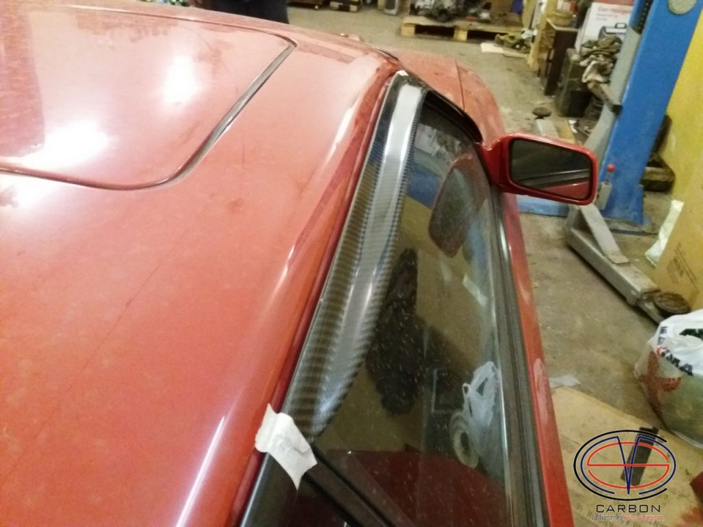 Window Wind Deflectors from Carbon Fiber for TOYOTA Celica st16 Gen4