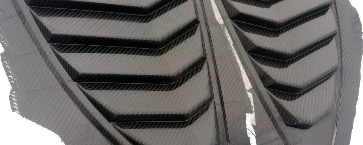 Rear Louver Quarter Window panel