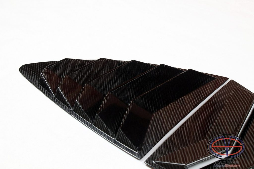 Rear Louver Quarter Window panel from carbon fiber
