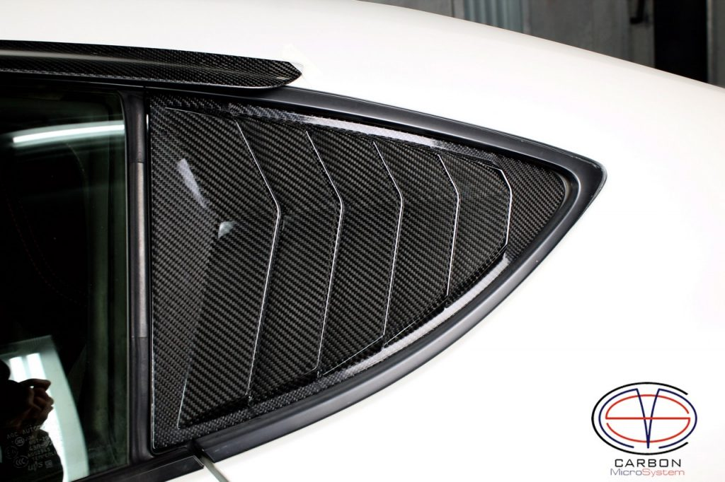 Rear Louver Quarter Window panel from carbon fiber for Subaru BRZ, Toyota GT86, Scion FR-S