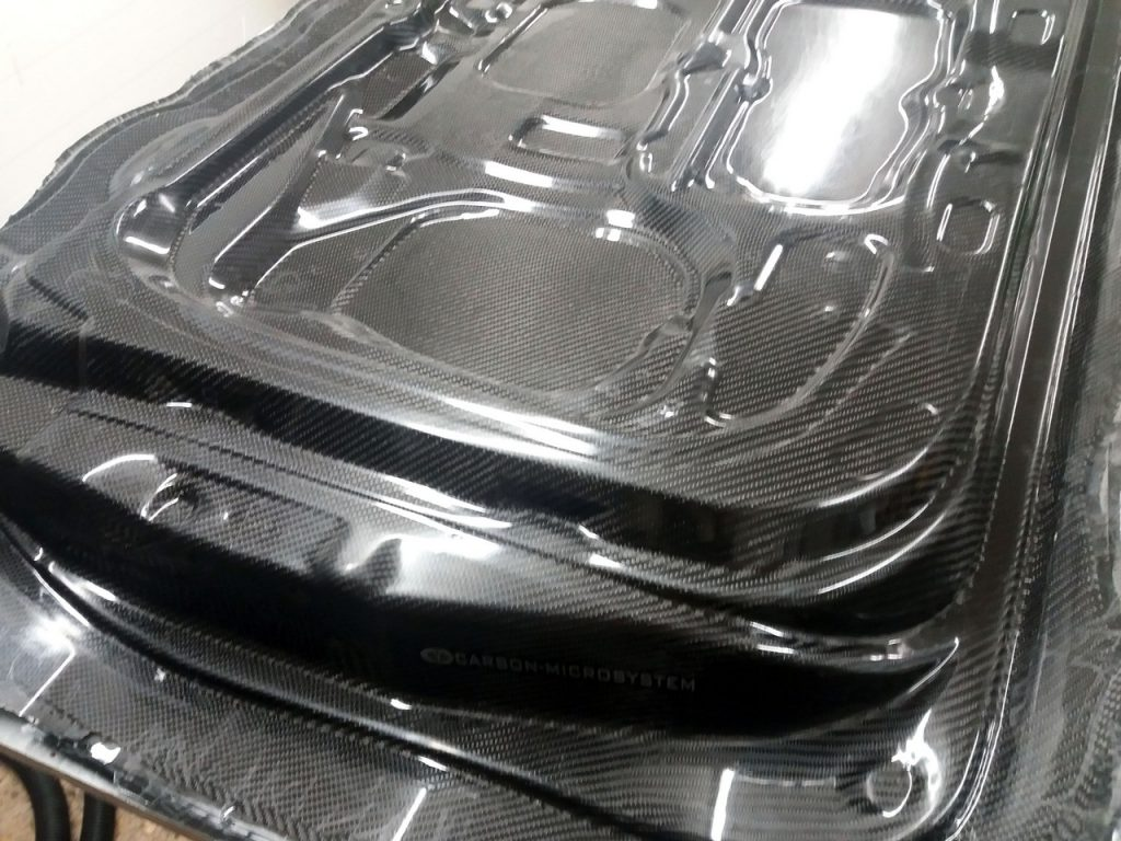 Inner side of carbon doors for Toyota