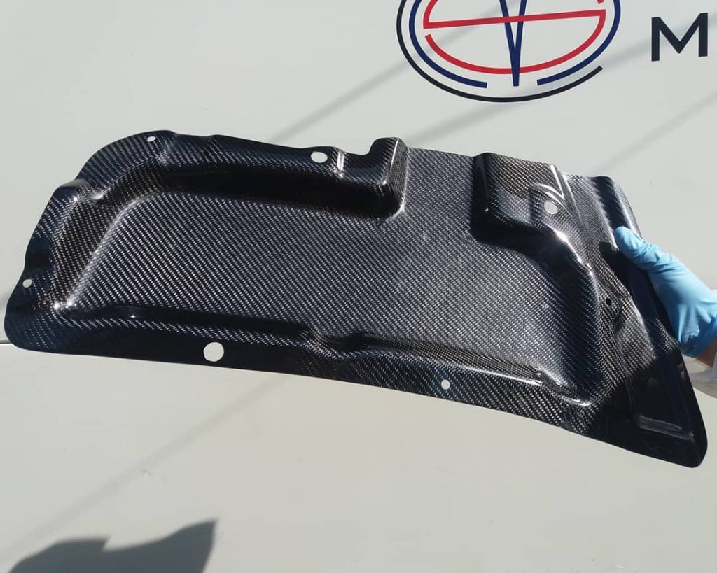 carbon bonnet rain guard