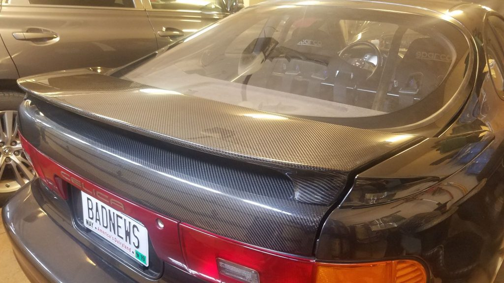 Toyota celica Carbon fiber Spoiler