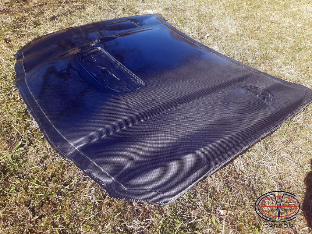 Carbon fiber hood for celica gt4