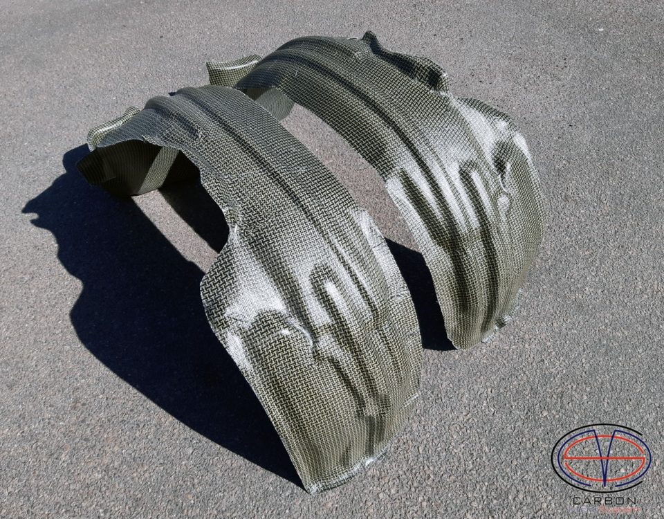 Inner fender liner from Kevlar