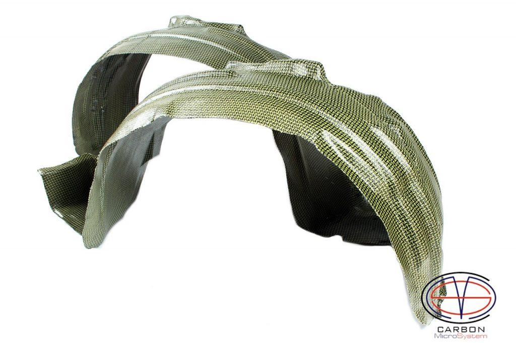 Inner fender liner from Kevlar and Carbon