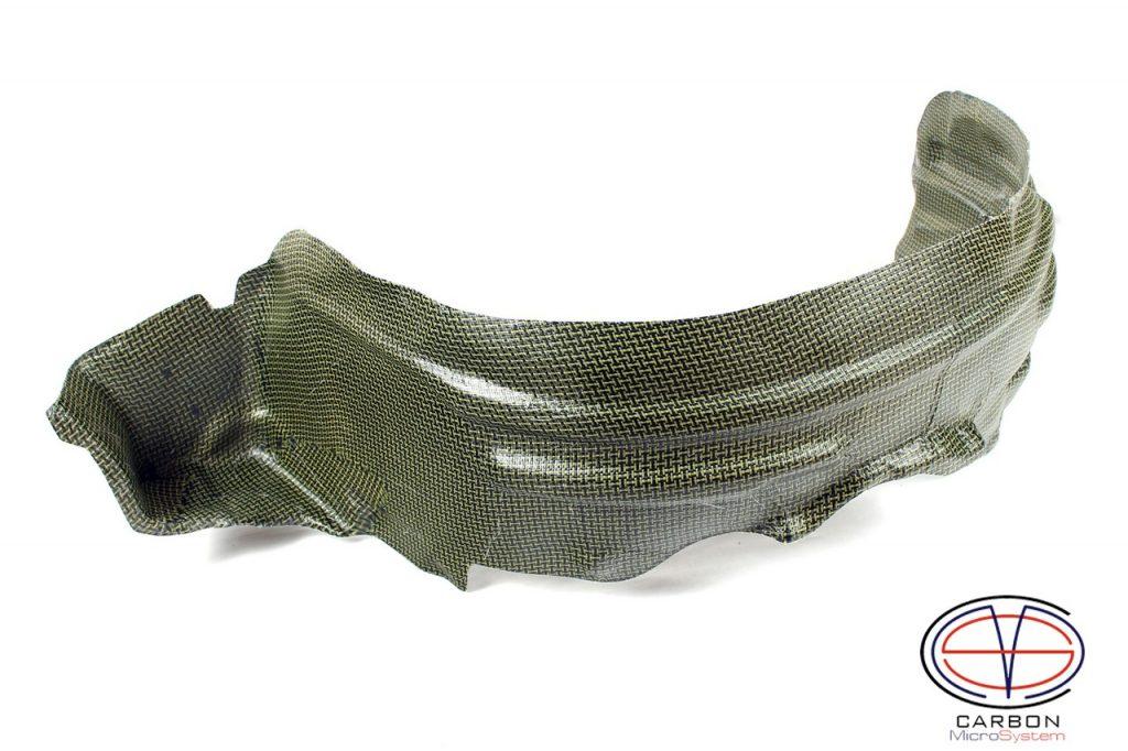 Inner fender liner from Kevlar and Carbon for Toyota Celica