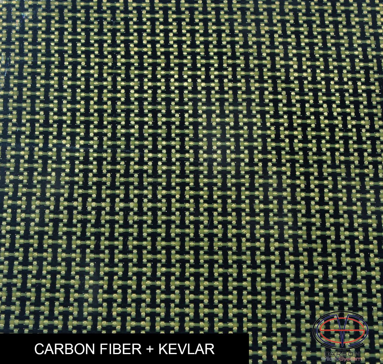 carbon fiber + kevlar