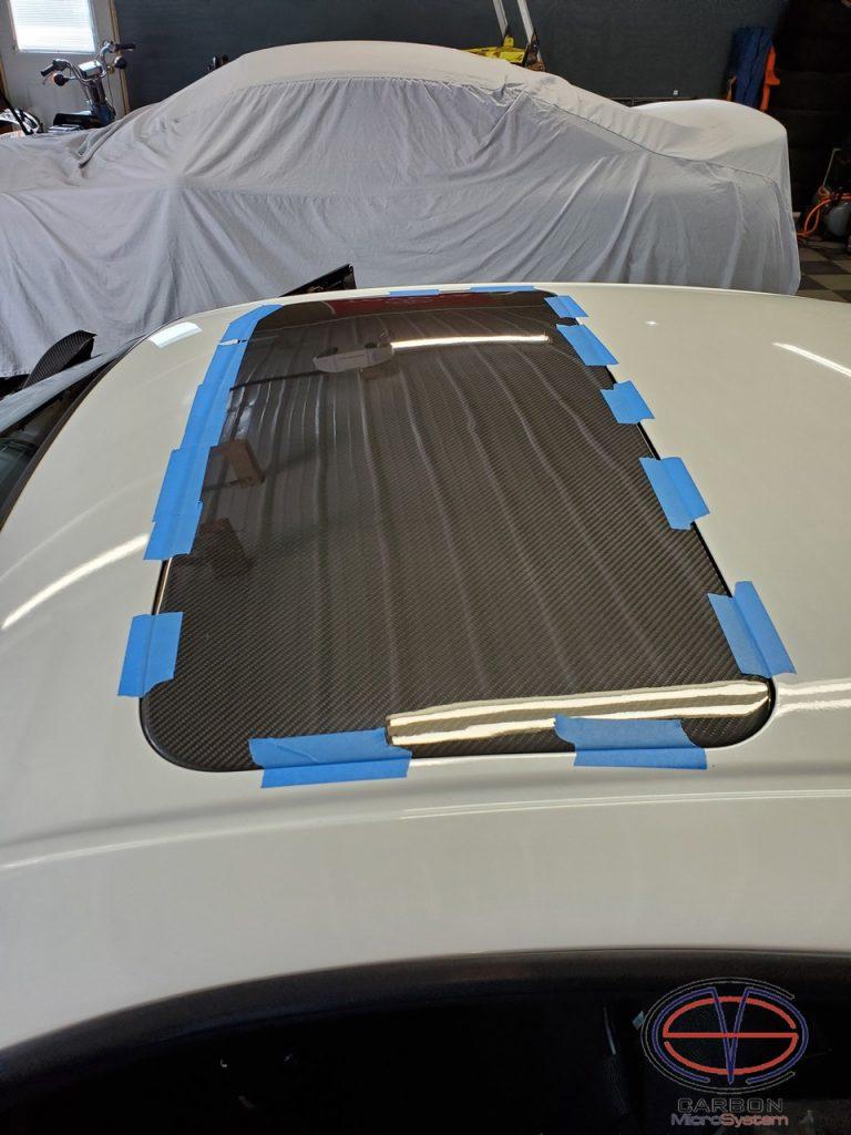 Sunroof delete panel from Carbon Fiber