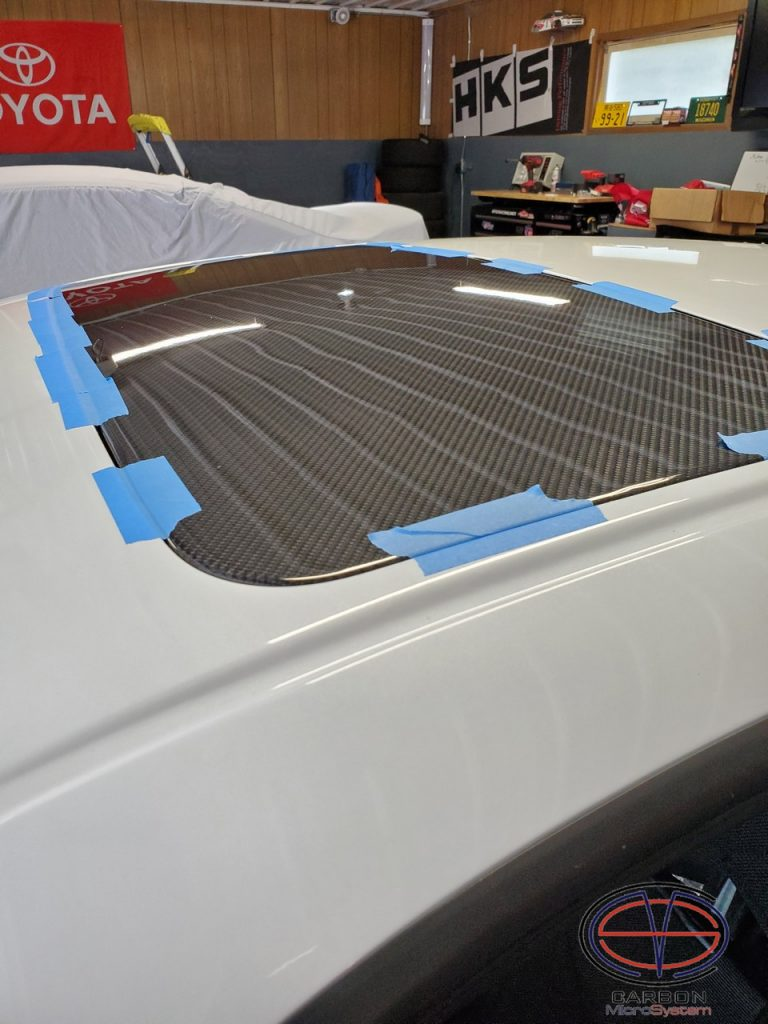 Sunroof delete panel from Carbon Fiber for Celica