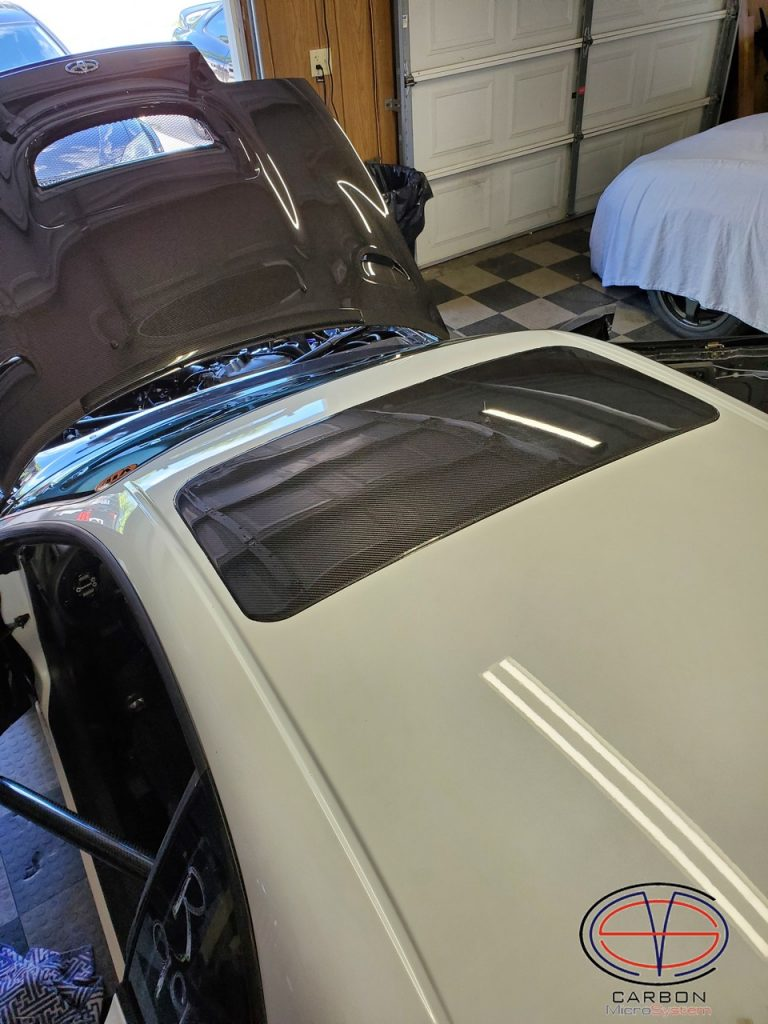 Sunroof delete panel from Carbon Fiber for TOYOTA Celica