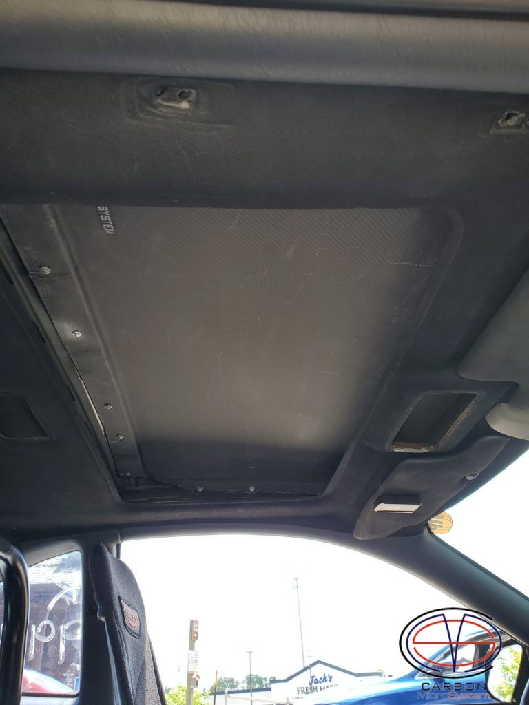 inner side of Sunroof delete panel from Carbon