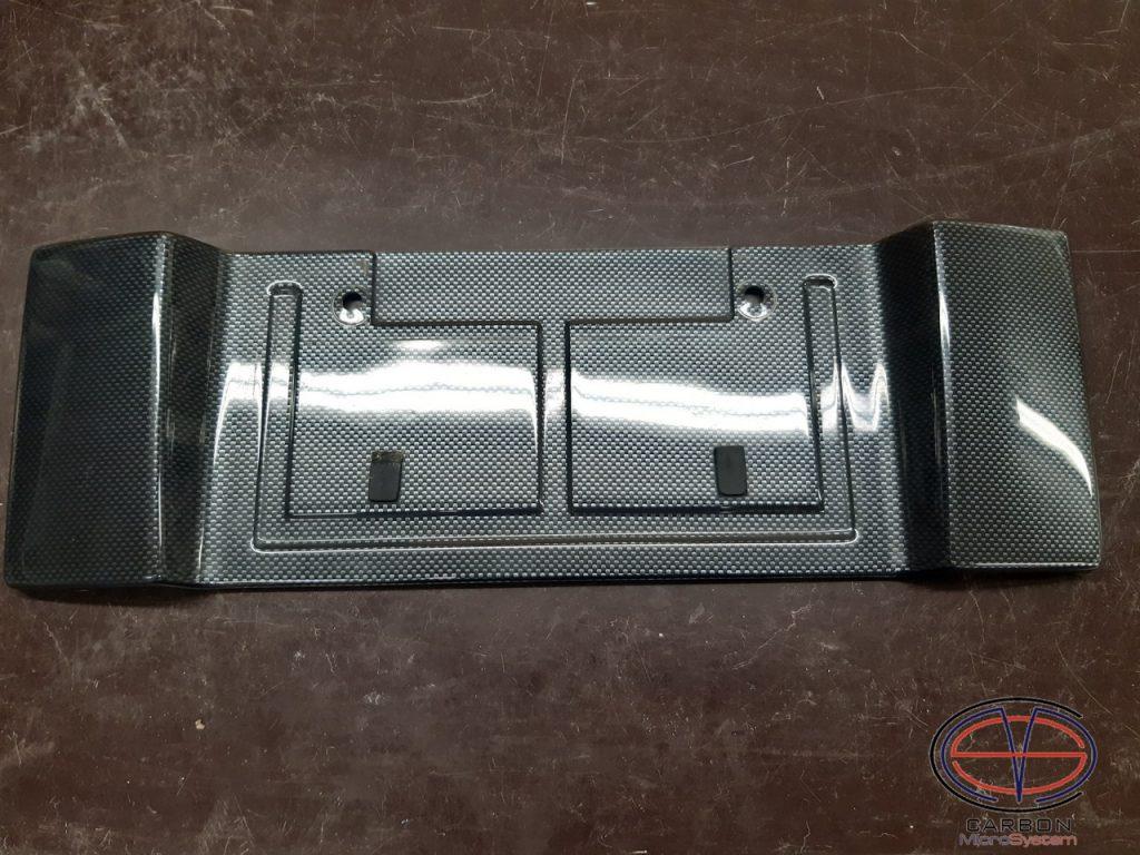 Carbon fiber short number plate surround