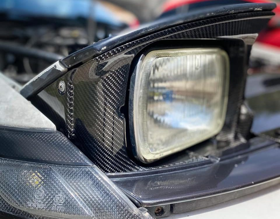 Carbon fiber headlights surround