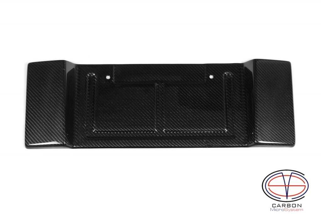 Carbon fiber short number plate