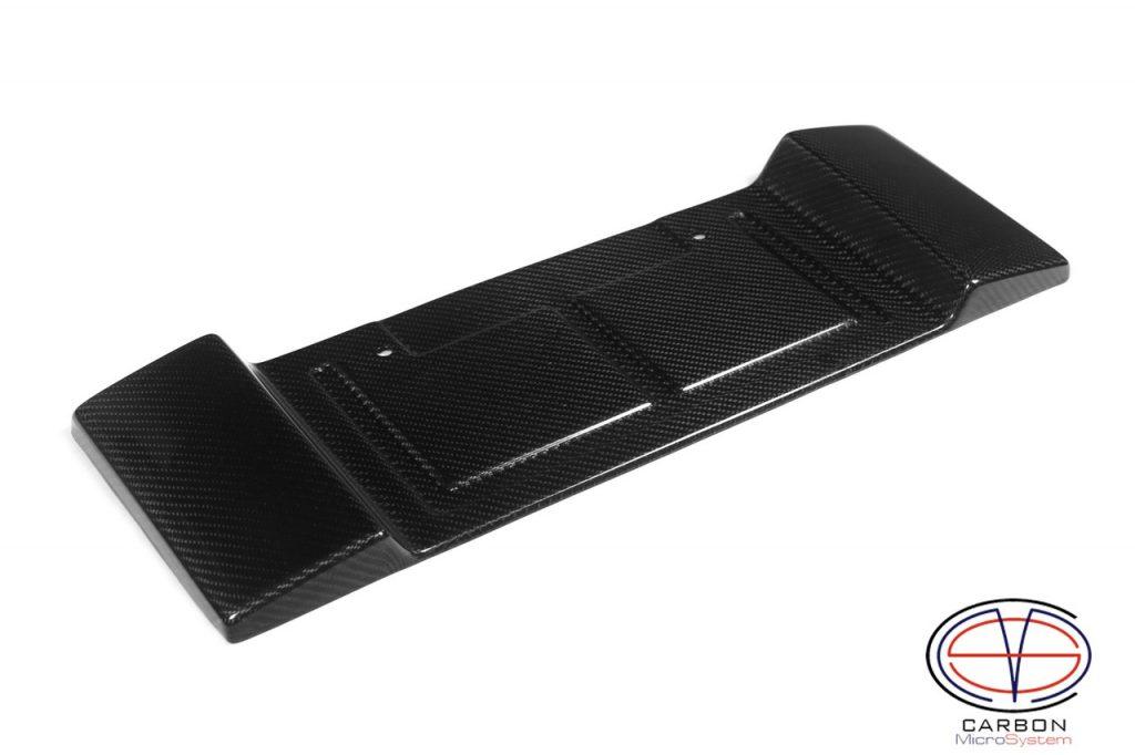 Carbon fiber short number plate surround for Celica