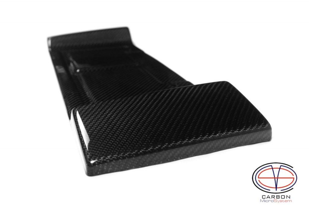 Carbon fiber short number plate surround for Celica t23