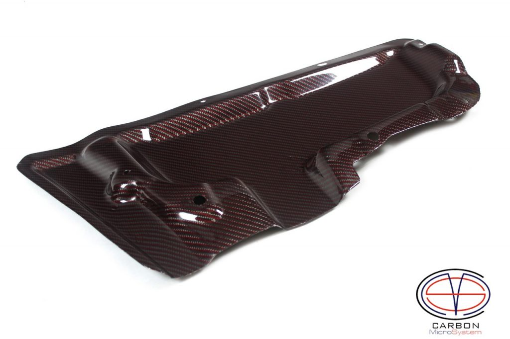 Red Carbon fiber rain guard Celica