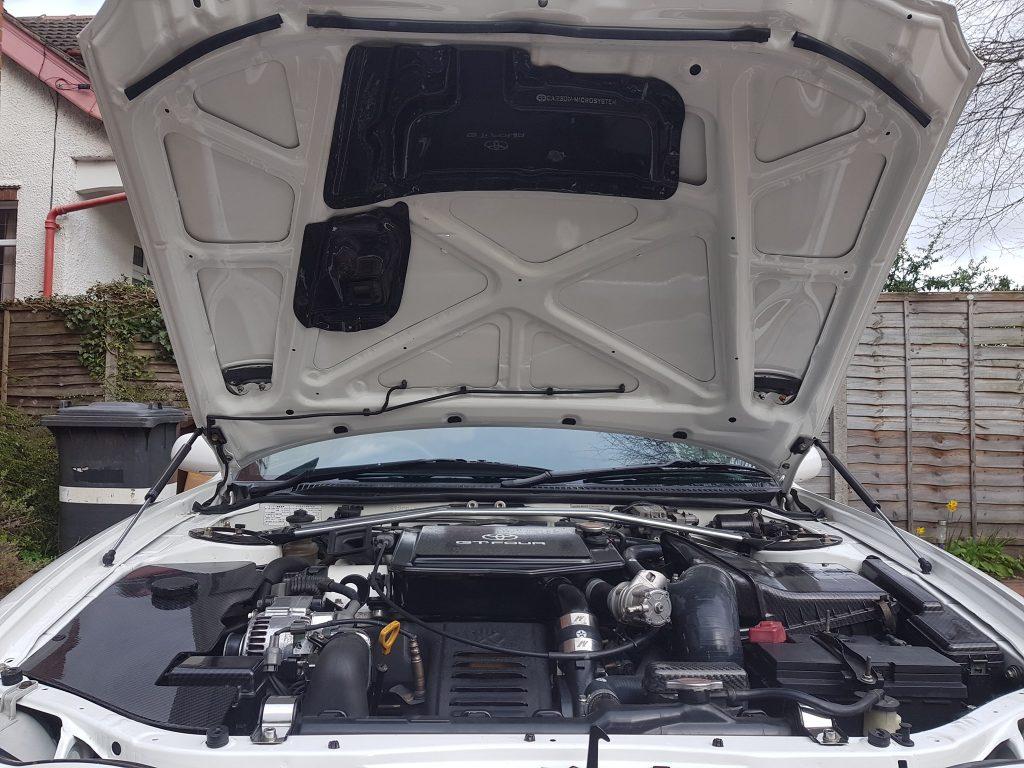 Carbon fiber rain guard for Toyota Celica gt4 st205 bonnet