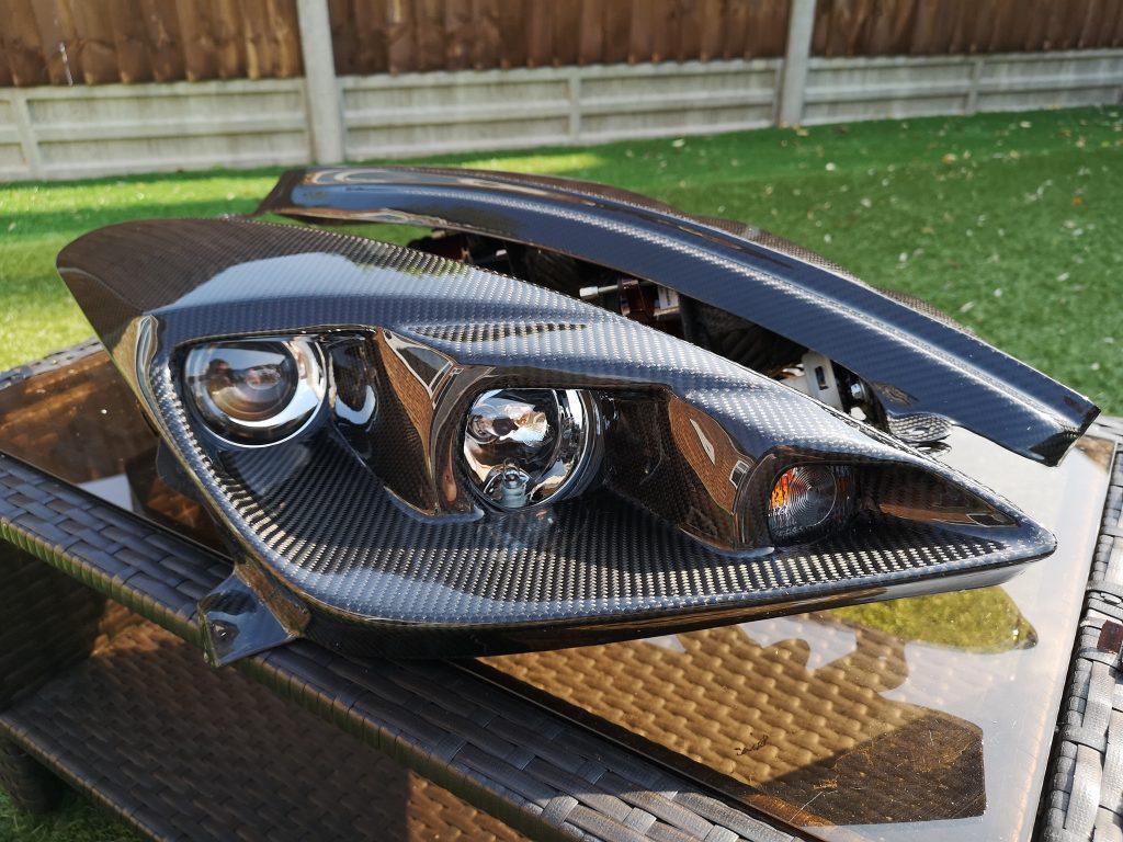 Carbon headlights celica bars