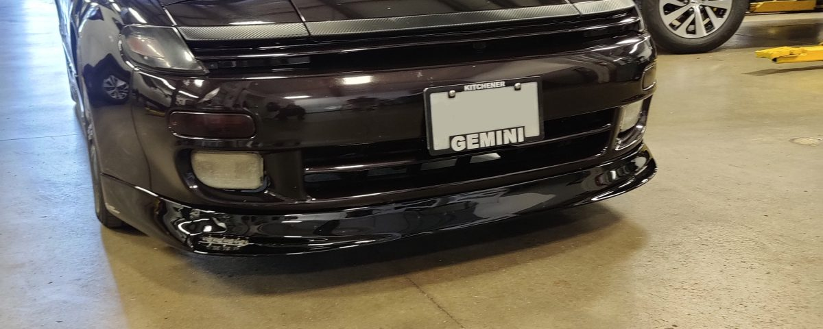 Toyota Celica St18 Cabrio with installed front lip