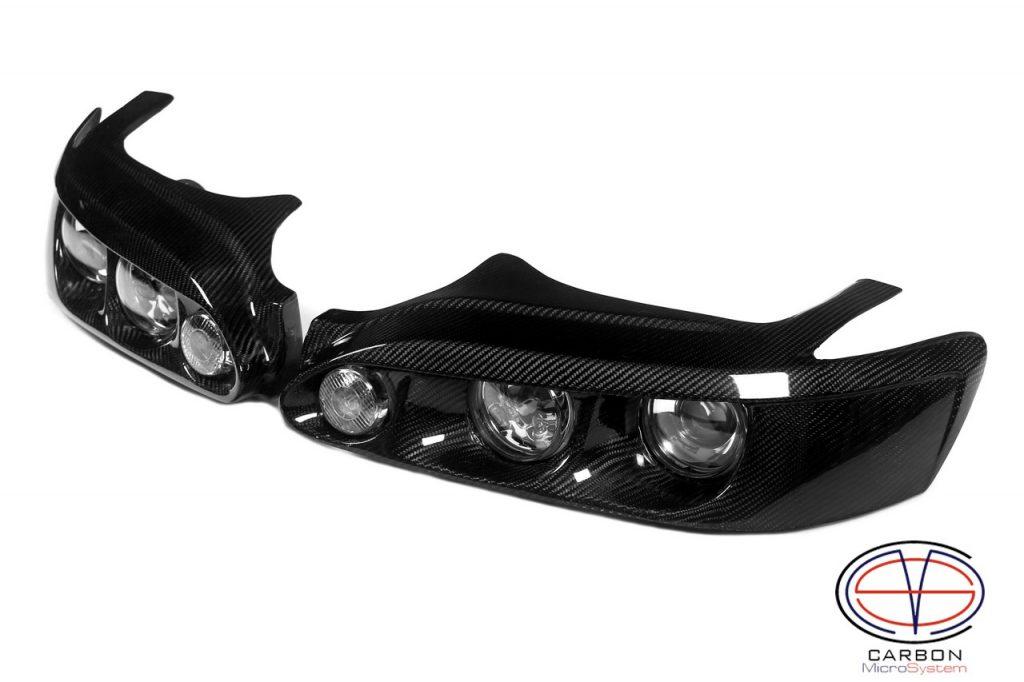 Carbon fiber headlights