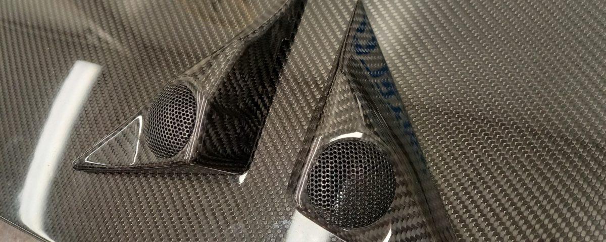 Carbon covers for door tweeters